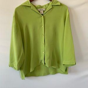 NEXX blouse Green 100% Silk XL